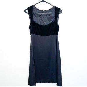 Nicole Miller 90s Velvet & Silk Dress